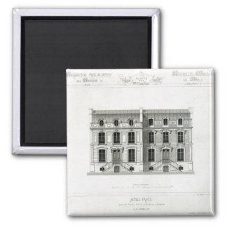 Hotels Prives, 10 & 12 Rue Balzac, Paris 2 Inch Square Magnet