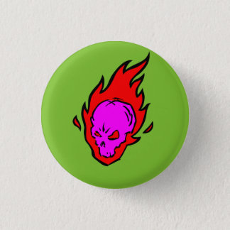 Hothead Flaming Skull Button