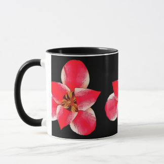 Hothouse Flowers Black 325 ml (11 oz) Ringer Mug