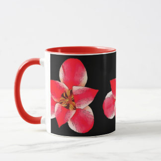 Hothouse Flowers Red 325 ml (11 oz) Ringer Mug