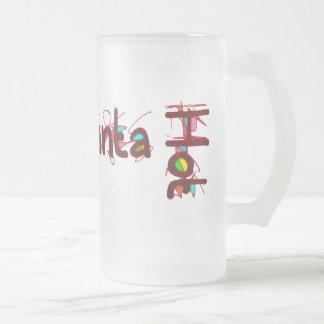 Hotlanta taza de 2 vidrios esmerilados