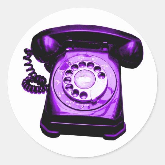 Hotline Purple Classic Round Sticker