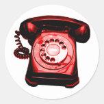 Hotline Red Classic Round Sticker