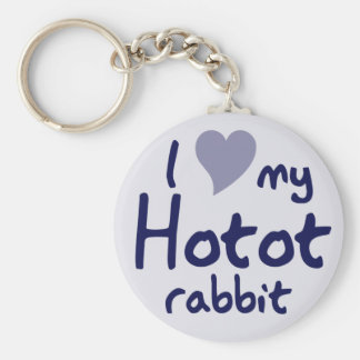 Hotot rabbit keychain