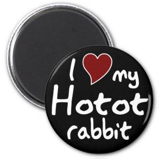 Hotot rabbit magnet