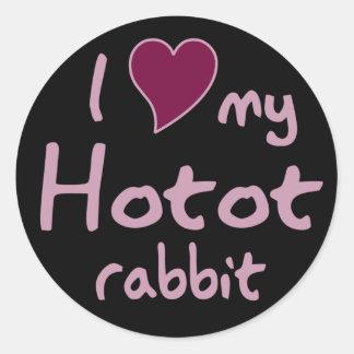 Hotot rabbit classic round sticker