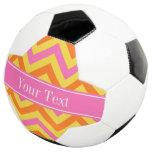 HotPink Pineapple Pumpkin LG Chevron Name Monogram Soccer Ball