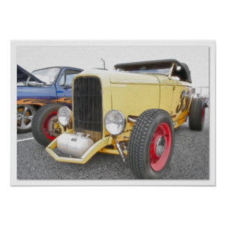 HotRod - Airbrush & Ink Drawing Poster