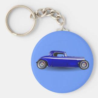 Hotrod Basic Round Button Keychain