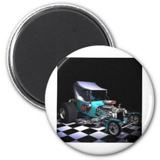 HotRod copy 2 Inch Round Magnet