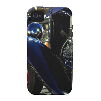 Hotrod de cabeza llana de V8 Vibe iPhone 4 Fundas