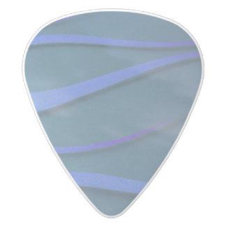 Hotrod flames on blue pick white delrin guitar pick