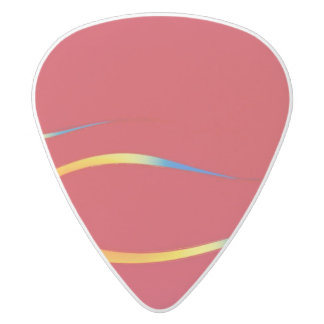 Hotrod flames on red pick white delrin guitar pick