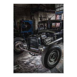Hotrod in a Garage Invitation