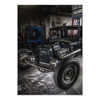 Hotrod in a Garage Invitation