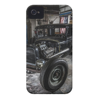 Hotrod in a Garage iPhone 4 Barely There Case Case-Mate iPhone 4 Case