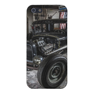 Hotrod in a Garage  iPhone 5 Matte Finish Case