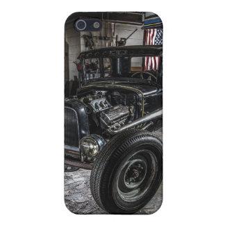 Hotrod in a Garage  iPhone 5 Matte Finish Case iPhone 5/5S Cases