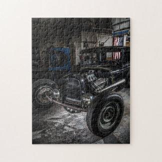 Hotrod in a Garage Jigsaw Puzzle