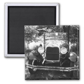 Hotrod of Yesterday 2 Inch Square Magnet