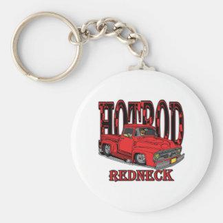 Hotrod Redneck Basic Round Button Keychain