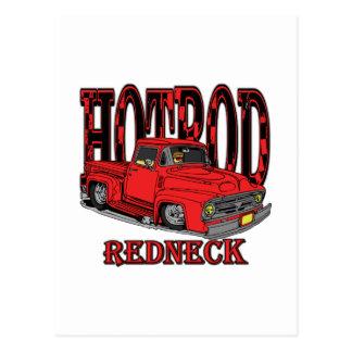 Hotrod Redneck Post Card