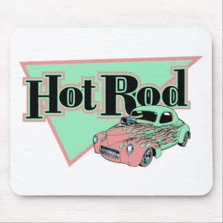Hotrod With Flames Hot rod Gifts By Gear4gearheads Mouse Pad