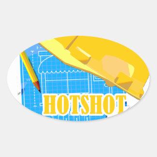 Hotshot Engineer Oval Sticker