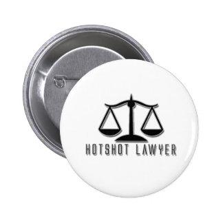 Hotshot Lawyer Pinback Buttons