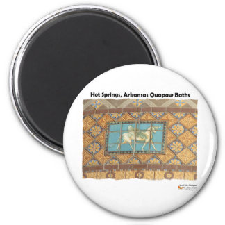 HotSprings, AR Quapaw Dome Tiles II Gifts Apparel 2 Inch Round Magnet