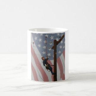 HOTSTICKIN' USA CLASSIC WHITE COFFEE MUG