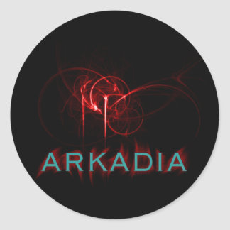 Hotter Than Hell Arkadia Round Stickers