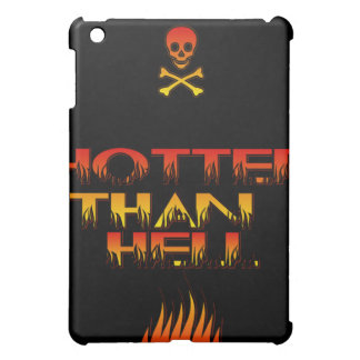 Hotter Than Hell logo Case with Skull icon iPad Mini Covers