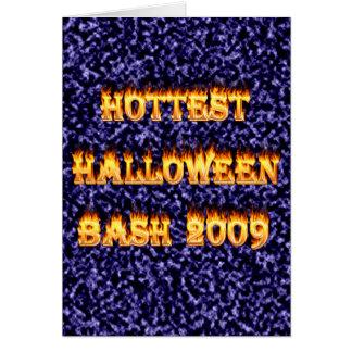 Hottest Halloween Bash 2009 Blue Greeting Card