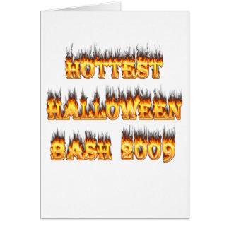 Hottest Halloween Bash 2009 Greeting Card