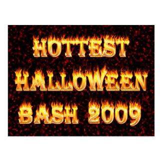 Hottest Halloween Bash 2009 Red Postcard