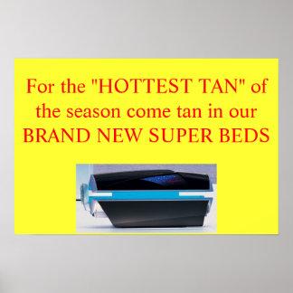 hottest tan advertisement poster