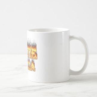 Hottie Angela fire and flames Coffee Mug