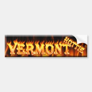 hottie de Vermont Pegatina Para Auto