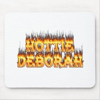 Hottie Deborah fire and flames. Mouse Pad
