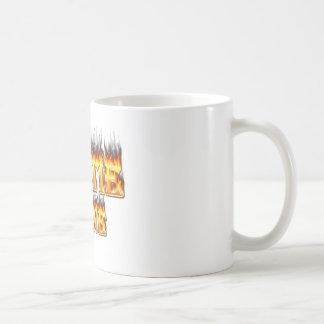 Hottie Diane fire and flames. Coffee Mug