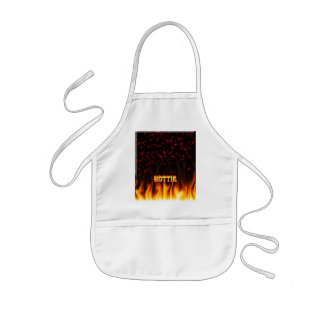 Hottie fire and flames Red marble. Kids' Apron