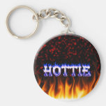 Hottie fire and flames Red marble Key Chain