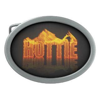 Hottie flamea la hebilla del cinturón hebilla de cinturón oval