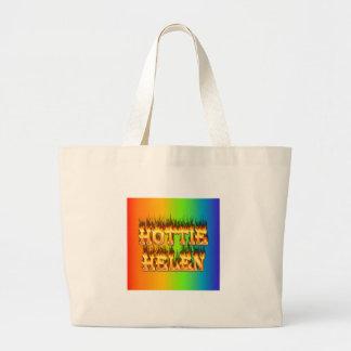 Hottie Helen fire and flames. Jumbo Tote Bag