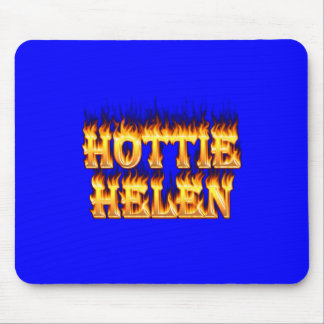 Hottie Helen fire and flames. Mouse Pad