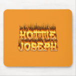 Hottie Joseph fire and flames Mouse Pad