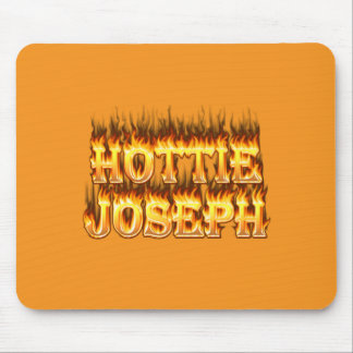 Hottie Joseph fire and flames Mouse Pads