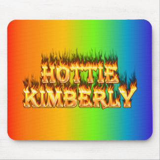 Hottie Kimberley fire and flames. Mouse Pad