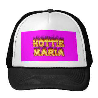 Hottie Maria fire and flames. Trucker Hat